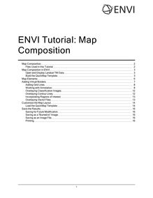 ENVI Tutorial: Map Composition