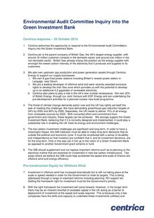 Environmental Audit Committee Inquiry into the Green Investment Bank