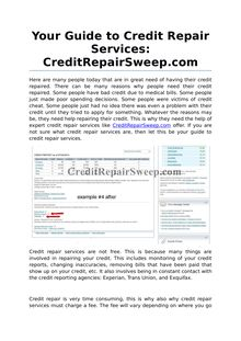 Your Guide to Credit Repair Services: CreditRepairSweep.com