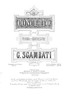 Partition , Moderato maestoso, Piano Concerto, G minor, Sgambati, Giovanni