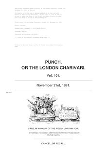 Punch, or the London Charivari, Volume 101, November 21, 1891