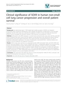 Clinical significance of SOX9 in human non-small cell lung cancer progression and overall patient survival