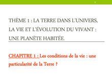 Les conditions de la vie : une particularité de la Terre ? - SVT Seconde