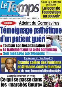 Le Temps - n°4940 -  Mercredi 08 avril  2020