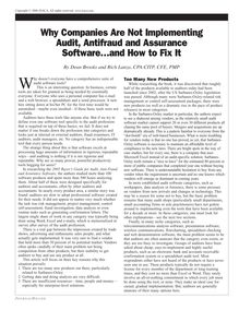 Why Companies Are Not Implementing Audit, Antifraud and Assurance  Software…and How to Fix It