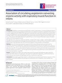 Association of circulating angiotensin converting enzyme activity with respiratory muscle function in infants
