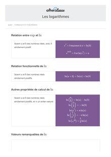 Les logarithmes