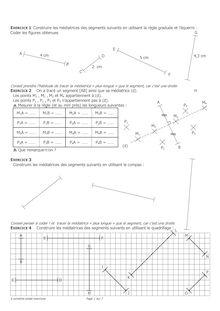 Exercice de symétrie axiale et médiatrice