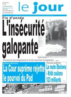 Le Jour Cameroun du 05-12-2019