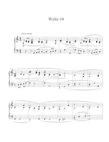Partition , Waltz en C major, Five valses, McKay, Justin Michael