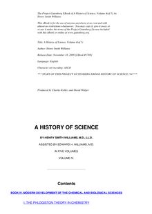 A History of Science — Volume 4