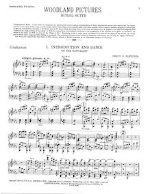 Partition Condensed Score et Brass parties, Woodland Pictures, Fletcher, Percy Eastman