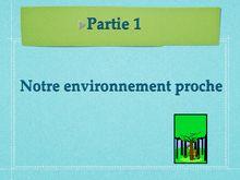 Cours de SVT 6eme : étude de l'environnement proche