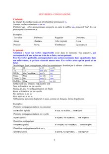 Cours De Russe Les Verbes Conjugaisons Deroy Langues Gratuit