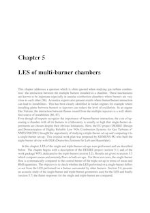 LES of multi burner chambers