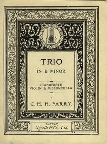 Partition couverture couleur, Piano Trio en B minor, B minor, Parry, Charles Hubert Hastings