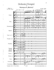 Partition complète, Orchestral Prelude to Shakespeare