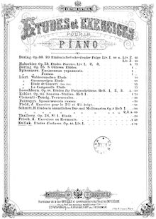 Partition , partie 1 - Preparatory Exercises, pour School of Octave Playing