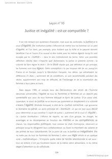 Philo - Justice et inégalité : est-ce compatible ?