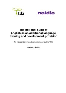 The national audit of EAL training and development provision T35134
