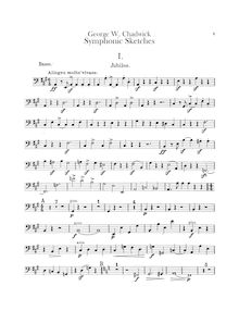 Partition Basses, symphonique sketches, Chadwick, George Whitefield