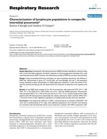 Characterization of lymphocyte populations in nonspecific interstitial pneumonia*