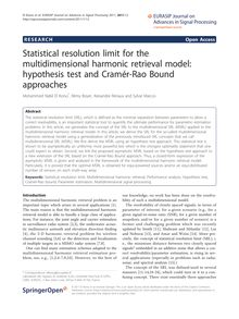 Statistical resolution limit for the multidimensional harmonic retrieval model: hypothesis test and Cramér-Rao Bound approaches