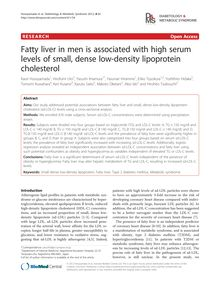 Fatty liver in men is associated with high serum levels of small, dense low-density lipoprotein cholesterol