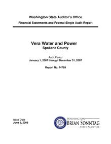 Financial Statements and Federal Single Audit Report Vera Water and Power Spokane County