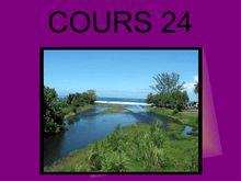 Cours 24 SVT 5e - transports des sédiments