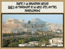 Chapitre : la civilisation grecque 6e