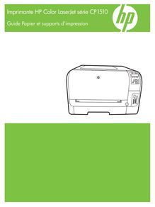Notice Imprimantes HP  Color LaserJet CP1514n