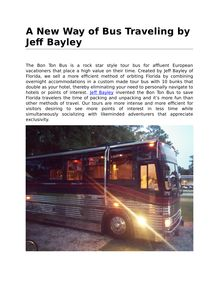 A New Way of Bus Traveling by Jeff Bayley