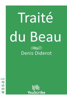 Traité du Beau de Denis Diderot - fiche descriptive