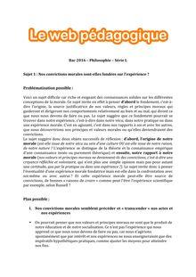 Baccalauréat Philosophie 2016 - Série L - Sujet 1