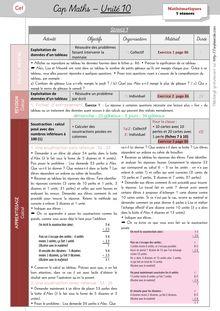 Mathématiques CP / CE1 – Cap Maths, période 4 (unités 9 et 10) - Unité10 – CE1 Unité 10 Préparation des séances1