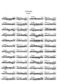Partition Index of Book 2, Das wohltemperierte Klavier II, The Well-Tempered Clavier, Book 2Praeludia und Fugen durch alle Tone und Semitonia / Preludes and Fugues through all tones and semitones