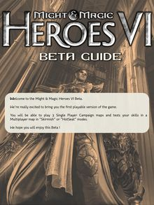 Might & Magic Heroes VI Beta guide