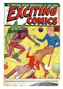 Lire Exciting Comics 005 (paper+4fiche) de