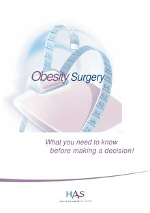 Obesity surgery in adults - Obesity surgery - Information for the patients