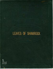 Partition Cover (colour), Leaves of Shamrock; a collection of pour melodies of Ireland, newly arranged et adapted pour pour piano ou orgue.