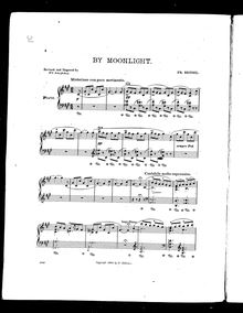 Partition No.3 - By Moonlight, Piano pièces, Op.39, Bendel, Franz