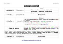 École publique décembre cours d'orthographe