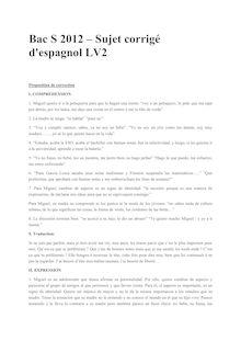 Bac 2012 S Espagnol LV2 Corrige