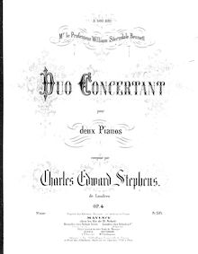 Partition Piano 1, Duo Concertant, Op.4, G major, Stephens, Charles Edward