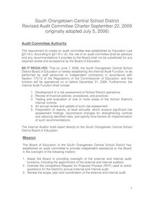Final Audit Committee Charter Sept  22 2009