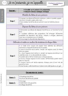 Arts Visuels CP/CE1 – Séquences - Autres séances Laure Le prénom2