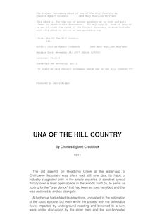 Una Of The Hill Country - 1911