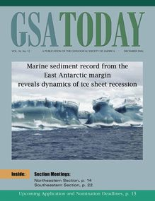 Marine sediment record from the East Antarctic margin reveals ...