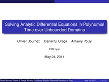 Solving Analytic Differential Equations in Polynomial Time over Unbounded Domains